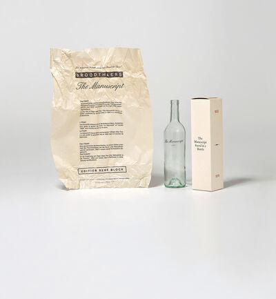Marcel Broodthaers, 'Le Manuscrit trouvé dans une bouteille (The Manuscript Found in a Bottle)', 1974