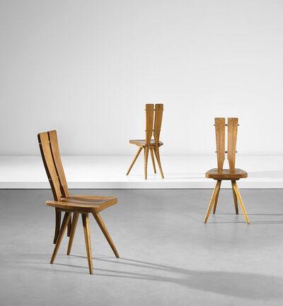 Carlo Mollino, 'Set of three side chairs, designed for the Casa del Sole, Cervinia', circa 1953