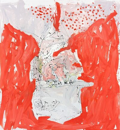 Georg Baselitz, 'Auch wirt lern helmt mich (Able fwill red)', 2013