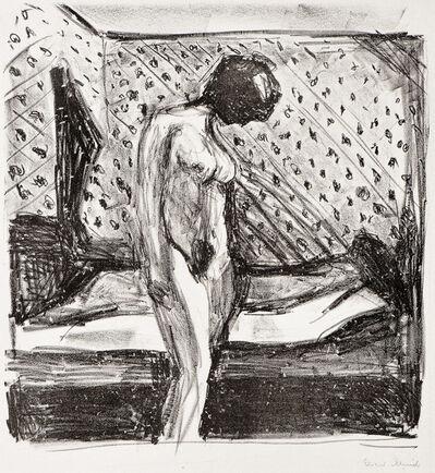 Edvard Munch, 'Gråtende ung kvinne ved sengen (Weeping Young Woman by the Bed)', 1930