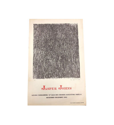"Jasper Johns, '""JASPER JOHNS"", 1962, Exhibition Poster, Ileana Sonnabend Paris.', 1962"