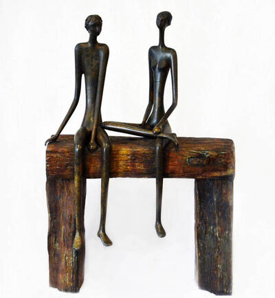 Ruth Bloch, 'Couple on Bench'