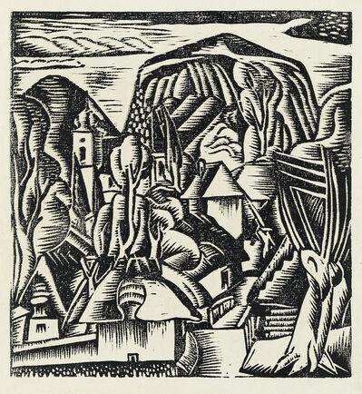 Jan Matulka, 'View of Hill Town in Czechoslovakia.', 1921