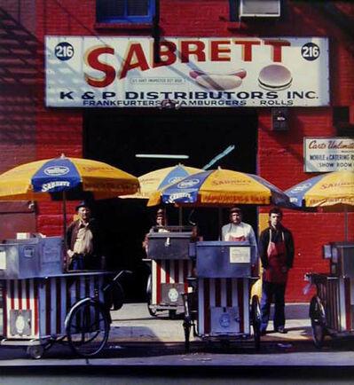 Neal Slavin, 'Sabrett Hot Dog Vendors / Headquarters, Sabrett Frankfurters,  New York, N.Y.', 1974
