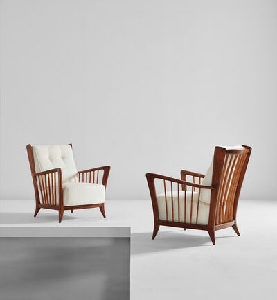 Paolo Buffa, 'Pair of armchairs', early 1950s