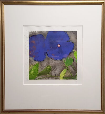 Donald Sultan, 'Morning Glories (Dark Blue)', 1988
