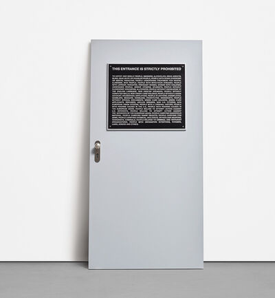 Santiago Sierra, 'Aviso Público (Public Notice), from Door Cycle', 2006