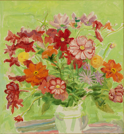 Nell Blaine, 'Orange and Green Bouquet', 1994