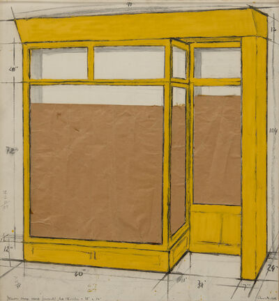 Christo, 'Yellow Store Front (Project) ', 1964