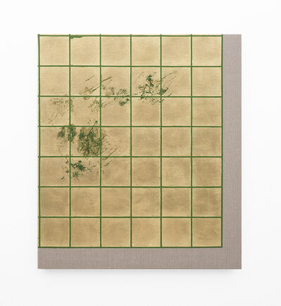 Pierre Vermeulen, 'Hair orchid sweat print, green grid', 2018
