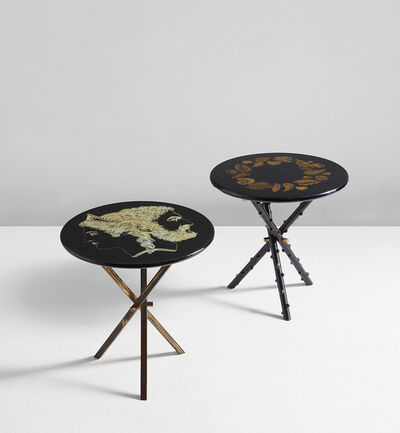 Piero Fornasetti, 'Two occasional tables', 1950s