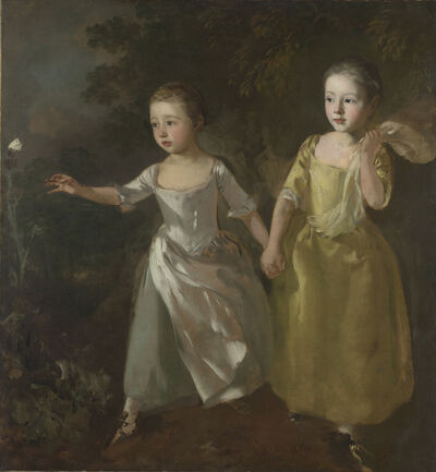Thomas Gainsborough, 'The Painter's Daughters chasing a Butterfly', probably about 1756