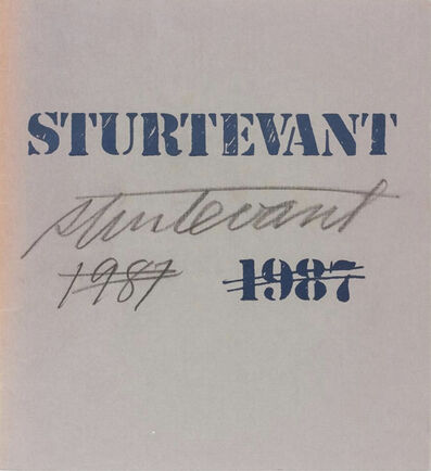 Sturtevant, 'Stux Gallery Exhibition catalogue ', 1987