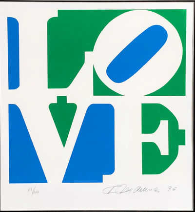 Robert Indiana, 'LOVE - Blue, Green & White', 1997