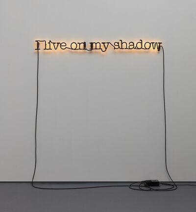 Glenn Ligon, 'Untitled (I Live on My Shadow)'