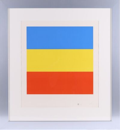 Ellsworth Kelly, 'Ellsworth Kelly Untitled (Blue, Yellow, Red) Signed, Numbered Screenprint Contemporary Art ', 1970-1973