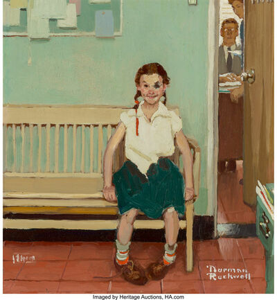 Norman Rockwell, 'Girl with Black Eye (The Shiner), The Saturday Evening Post cover study', 1953