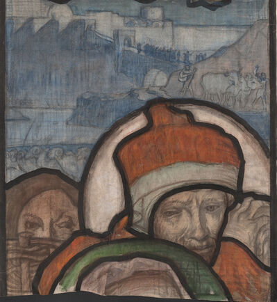 Sir Frank Brangwyn, 'Study for central panel of Nativity window, St Mary the Virgin, Bucklebury, Berkshire', Unknown