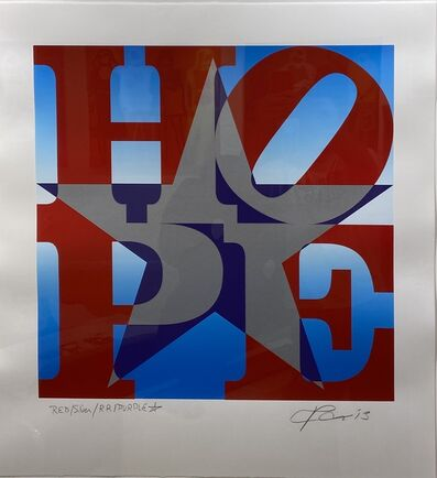 Robert Indiana, 'HOPE Red Silver Purple Blue', 2013