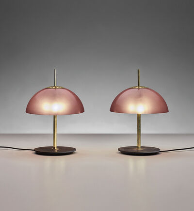 Gino Sarfatti, 'Pair of rare table lamps, model no. 584/G', circa 1957