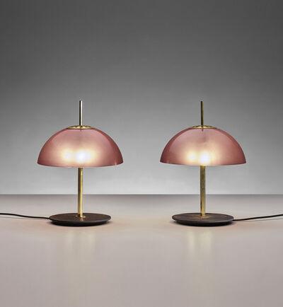 Gino Sarfatti, 'Pair of rare table lamps, model no. 584/G', circa 1957