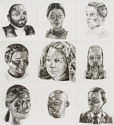 Claudette Schreuders, 'Nine Portraits', 2017