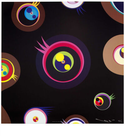 Takashi Murakami, 'Jellyfish Eyes Black 1', 2004