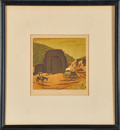 "Gustave Baumann, 'Color woodblock print, ""Cordova Plaza""', 1943"