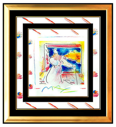 Peter Max, 'PETER MAX Original PAINTING Pop Art SAGE with CANE Rare Acrylic & Pastel Signed', 1990-1999