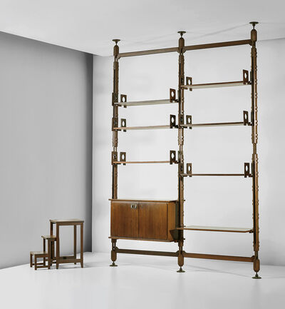 Ico Parisi, 'Rare modular bookcase and unique stepladder, designed for a private residence, Como', circa 1960
