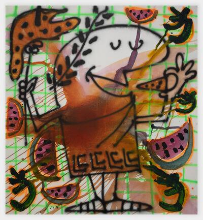 Katherine Bernhardt, 'Watermelon Pizza', 2020