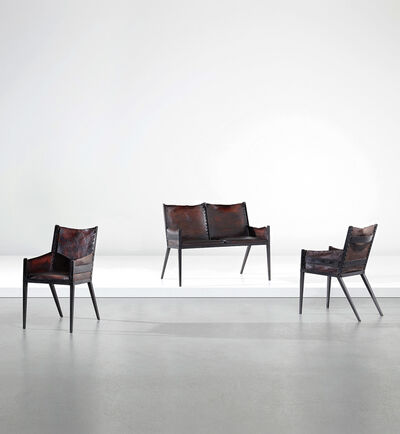 Comte, 'Rare children's settee and pair of armchairs', circa 1938