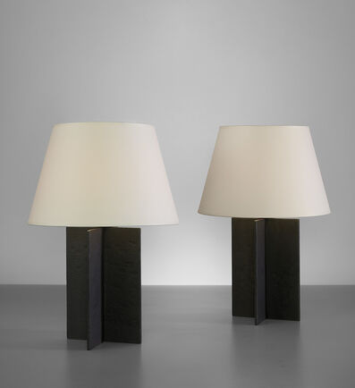 "Jean-Michel Frank, 'Pair of ""Croisillon"" table lamps', circa 1940"