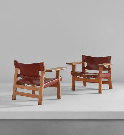 "Börge Mogensen, 'Pair of ""Spanish"" chairs', circa 1958"