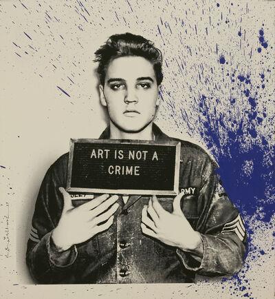 Mr. Brainwash, 'Jailhouse Pop, Blue Splash Elvis'