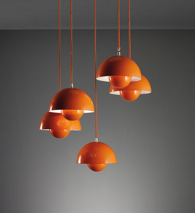 "Verner Panton, 'Set of five ""Flower Pot"" ceiling lights, model no. 16562', circa 1968"
