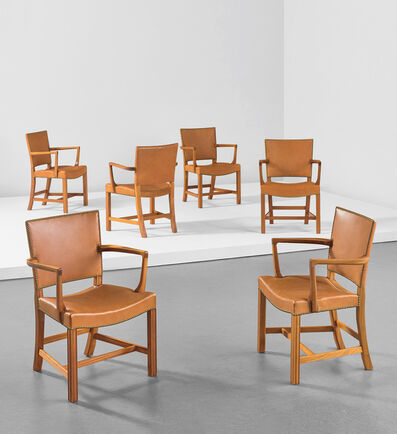 "Kaare Klint, 'Set of six ""Red"" armchairs, model no. 3758A', designed circa 1927"