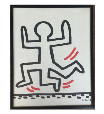 "Keith Haring, '""Three Leg Man"", Bayer Suite, Sali-Adalat, Edition of 70, Offset Lithograph on Glassine Paper, Museum Quality.', 1982"
