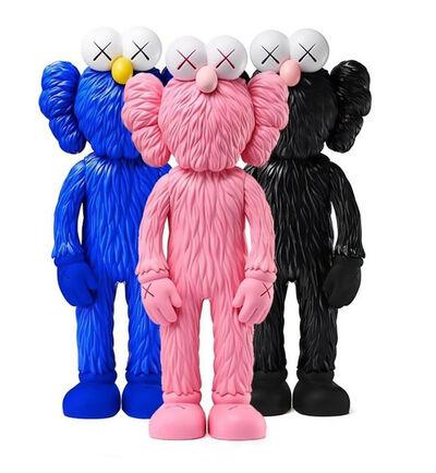 KAWS, 'KAWS BFF complete Set of 3 (KAWS Pink, Black, Blue BFF vinyl)', 2018