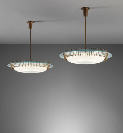 Angelo Lelii, 'Pair of ceiling lights, model no. 12697', circa 1958