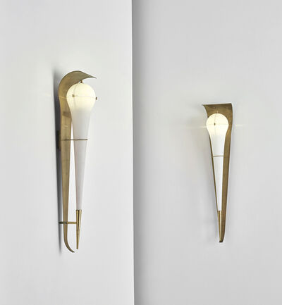 Angelo Lelii, 'Pair of large wall lights, model no. 12824', circa 1960