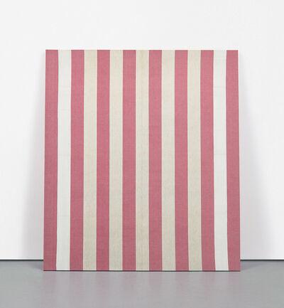 Daniel Buren, 'Peinture acrylique blanche sur tissu rayé blanc et rouge', 25173