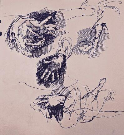 William Woodward, 'Hand Studies', 1970
