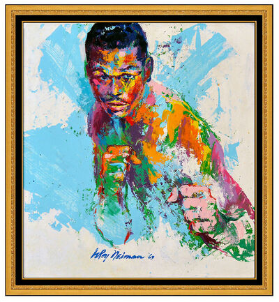 LeRoy Neiman, 'LeRoy Neiman Oil Painting on Board Signed Boxing Sugar Ray Robinson Sports Art', 1969