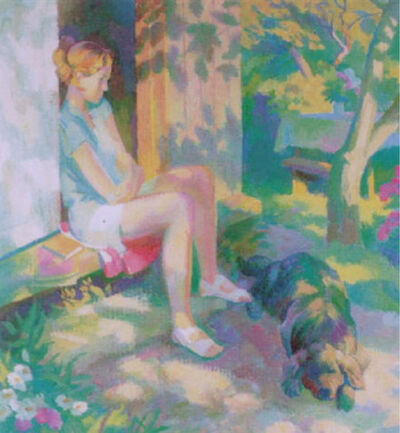 Yuri Mikhailovich Kruglov, 'Girl With Dog', 1999