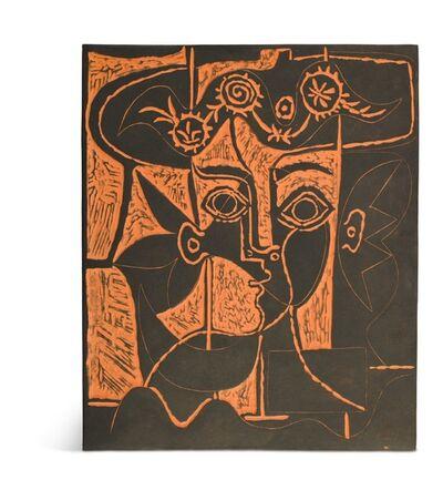 Pablo Picasso, 'Pablo Picasso Madoura Plaque, 'Grand tête de femme au chapeau orné' Ramié 518', 1964