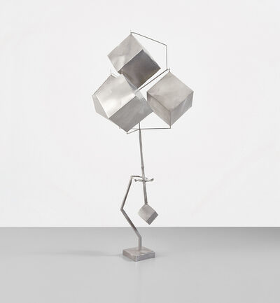 George Rickey, 'Four Cubes with Gimbal II', Conceived in 1994 and 1996