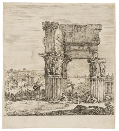 Stefano Della Bella, 'The Temple of Concordia and the Roman Forum', 1656