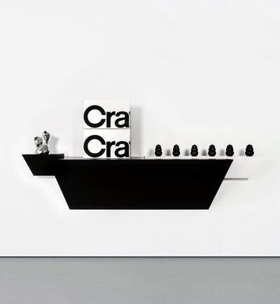 Haim Steinbach, 'crate & barrel 2', 2008