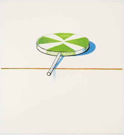 Wayne Thiebaud, 'Large Sucker (from Seven Still Lifes and a Rabbit)', 1971